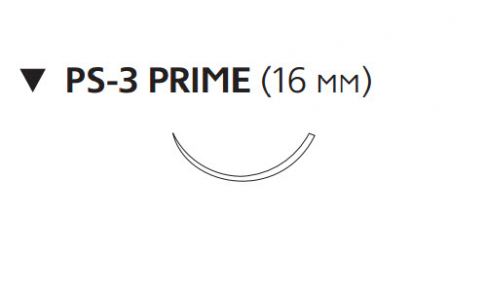 Монокрил Плюс (Monocryl Plus) 3/0, длина 70см, обр-реж. игла 16мм Prime MCP3205G