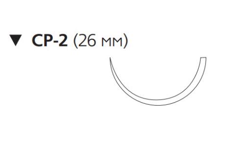 Викрил Рапид (Vicryl Rapide) 2/0, длина 75см, обр-реж. игла 26мм, 1/2 окр., неокрашенная нить (W9936)
