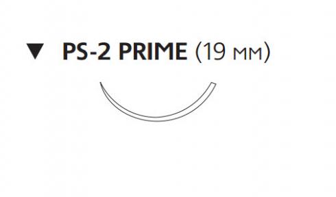 Викрил Плюс (Vicryl Plus) 3/0, длина 45см, обр-реж. игла 19мм Prime, 3/8 окр., неокрашенная нить (VCP497H)