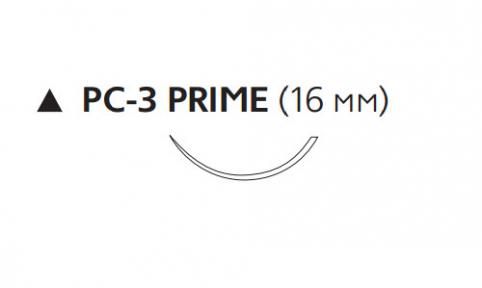 Пролен (Prolene) 6/0, длина 45см, реж. игла 16мм Prime, 3/8 окр. (W8005T)