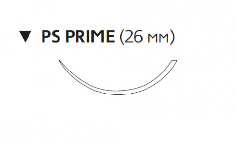 Пролен (Prolene) 2/0, длина 45см, обр-реж. игла 26мм Prime, 3/8 окр. (W8026T)