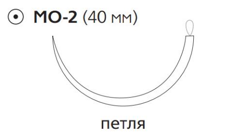 ПДС Плюс (PDS Plus) 1, длина 150см, кол. игла 40мм, 1/2 окр., петля, фиолетовая нить (PDP9237T)