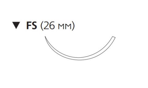 Рассасывающийся шовный материал с антибактериальным покрытием Монокрил Плюс (Monocryl Plus) 3/0, длина 70см, обр-реж. игла 26мм, 3/8 окр., неокрашенная нить (MCP3326G) Ethicon (Этикон)