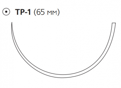 Пролен (Prolene) 1, длина 100см, кол. игла 65мм W8401