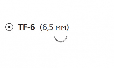 Пролен (Prolene) 7/0, длина 30см, кол. игла 6,5мм EH7811E