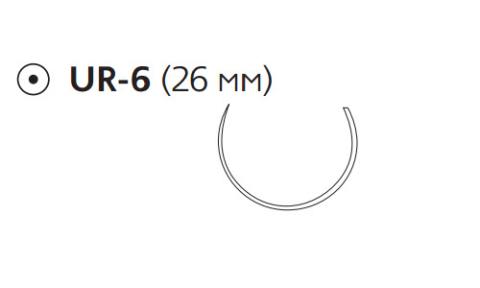 Викрил Плюс (Vicryl Plus) 0, длина 70см, кол. игла 26мм, 5/8 окр., фиолетовая нить (VCP603H)