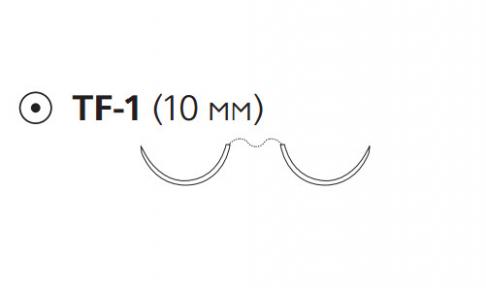 Нерассасывающийся шовный материал Пролен (Prolene) 6/0, длина 75см, 2 кол. иглы 10мм, 1/2 окр. (EH7835H) Ethicon (Этикон)