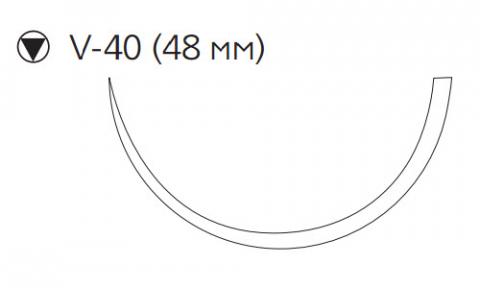 Хирургическая проволока из нержавеющей стали (Surgical Steel) 5, 4шт по 45см, кол-реж. игла 48мм, 1/2 окр. (M650G) Ethicon (Этикон)
