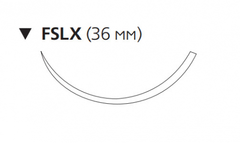 Рассасывающийся шовный материал Викрил (Vicryl) 2/0, длина 75см, обр-реж. игла 36мм, 3/8 окр., фиолетовая нить (W9390) Ethicon (Этикон)