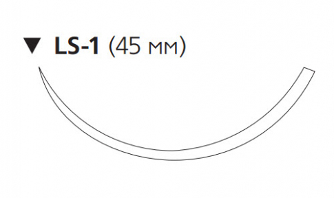 Этилон (Ethilon) 2/0, длина 100см, обр-реж. игла 45мм W736