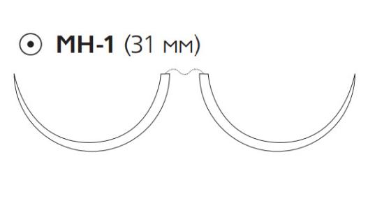 ПДС Плюс (PDS Plus) 3/0, длина 90см, 2 кол. иглы 31мм PDP9134H