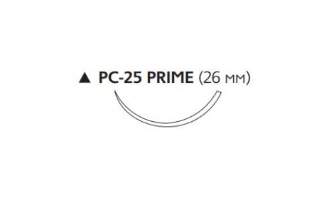 Рассасывающийся шовный материал ПДС II (PDS II) 3/0, длина 70см, реж. игла 26мм Prime, 3/8 окр., неокрашенная нить (W9625T) Ethicon (Этикон)