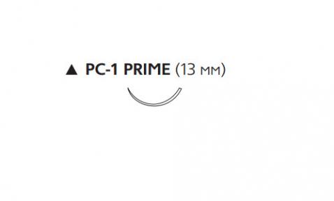 Рассасывающийся шовный материал ПДС II (PDS II) 6/0, длина 45см, реж. игла 13мм Prime, 3/8 окр., неокрашенная нить (W9861T) Ethicon (Этикон)