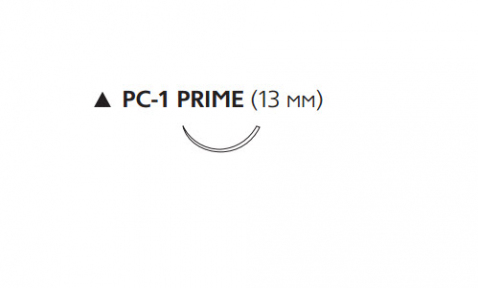 ПДС II (PDS II) 6/0, длина 45см, реж. игла 13мм Prime W9861T