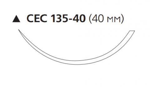 Пролен (Prolene) 3/0, длина 100см, реж. игла 40мм W8689