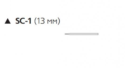 Викрил (Vicryl) 4/0, длина 45см, реж. игла 13мм W9410