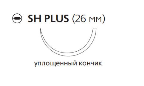 Монокрил Плюс (Monocryl Plus) 2/0, длина 70см, кол. игла 26мм MCP4170H