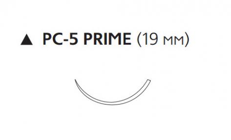 Рассасывающийся шовный материал Викрил (Vicryl) 4/0, длина 75см, реж. игла 19мм Prime, 3/8 окр., неокрашенная нить (W9570T) Ethicon (Этикон)