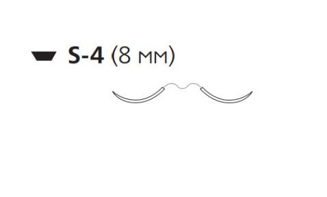 Викрил (Vicryl) 4/0, длина 45см, 2 шпательные иглы 8мм V572G