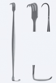 Ретрактор (ранорасширитель) двусторонний Senn-Miller (Сенн-Миллер) WH0130