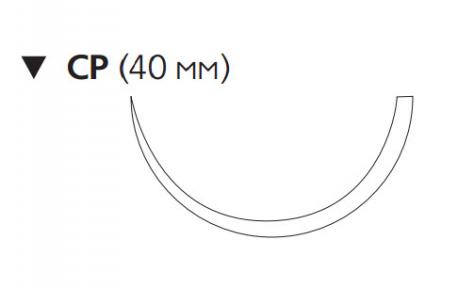 Рассасывающийся шовный материал Викрил (Vicryl) 1, длина 75см, обр-реж. игла 40мм, 1/2 окр., фиолетовая нить (W9321) Ethicon (Этикон)