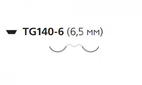 Этилон (Ethilon) 10/0, длина 30см, 2 иглы 6,5мм W1770