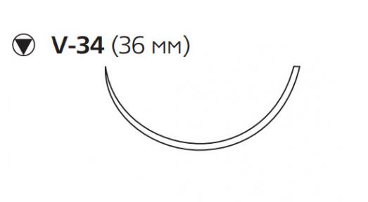 Пролен (Prolene) 0, длина 100см, кол-реж. игла 36мм W486