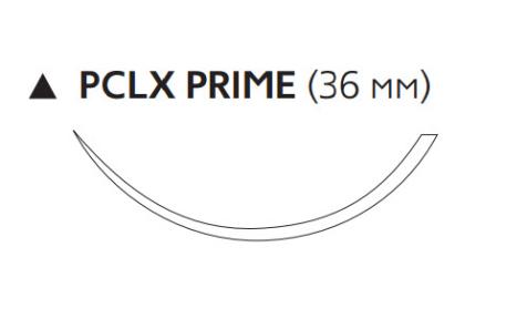 Пролен (Prolene) 3/0, длина 75см, реж. игла 36мм Prime, 3/8 окр., нить снабжена двумя кнопками (W8626)