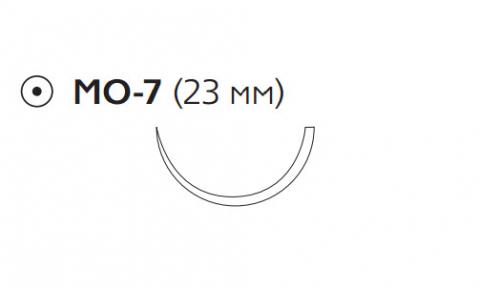 Рассасывающийся шовный материал с антибактериальным покрытием Викрил Плюс (Vicryl Plus) 2, длина 70см, кол. игла 23мм, 1/2 окр., фиолетовая нить (VCP251H) Ethicon (Этикон)