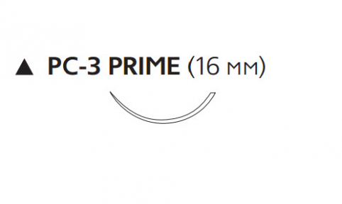 Пролен (Prolene) 4/0, длина 45см, реж. игла 16мм Prime W525