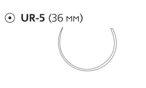 Викрил Плюс (Vicryl Plus) 0, длина 70см, кол. игла 36мм VCP376H