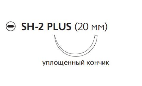 ПДС Плюс (PDS Plus) 4/0, длина 70см, кол. игла 20мм PDP9115H