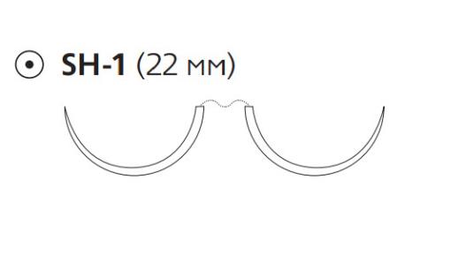 Рассасывающийся шовный материал ПДС II (PDS II) 3/0, длина 70см, 2 кол. иглы 22мм, 1/2 окр., фиолетовая нить (Z1311H) Ethicon (Этикон)