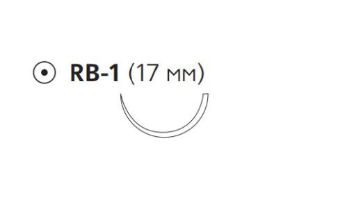 Монокрил Плюс (Monocryl Plus) 4/0, длина 70см, кол. игла 17мм MCP3435G