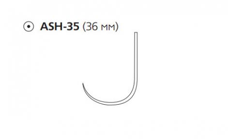 Рассасывающийся шовный материал ПДС II (PDS II) 2/0, длина 70см, кол. игла 36мм, крючок, фиолетовая нить (W9219T) Ethicon (Этикон)