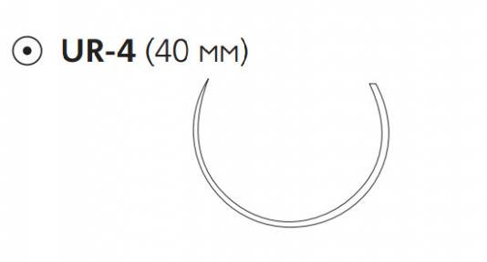 Викрил (Vicryl) 0, длина 75см, кол. игла 40мм W9165