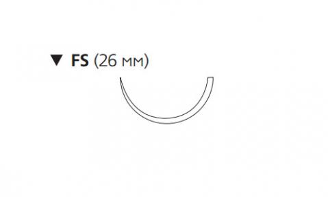 Рассасывающийся шовный материал ПДС II (PDS II) 3/0, длина 45см, обр-реж. игла 26мм, 1/2 окр., неокрашенная нить (W9957T) Ethicon (Этикон)
