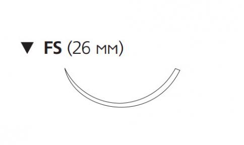 Викрил (Vicryl) 3/0, длина 45см, обр-реж. игла 26мм W9388