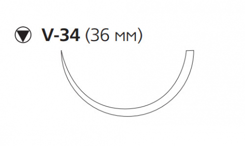 Рассасывающийся шовный материал с антибактериальным покрытием Монокрил Плюс (Monocryl Plus) 0, длина 70см, кол-реж. игла 36мм, 1/2 окр., фиолетовая нить (MCP3489G) Ethicon (Этикон)