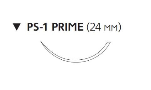 Нерассасывающийся шовный материал Пролен (Prolene) 3/0, длина 60см, обр-реж. игла 24мм Prime, 3/8 окр., нить снабжена двумя кнопками (EH7666G) Ethicon (Этикон)
