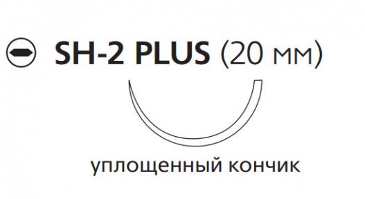 Викрил (Vicryl) 4/0, длина 75см, кол. игла 20мм W9113