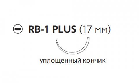 Рассасывающийся шовный материал Викрил (Vicryl) 4/0, длина 75см, кол. игла 13мм, 1/2 окр., уплощенный кончик, фиолетовая нить (W9106) Ethicon (Этикон)