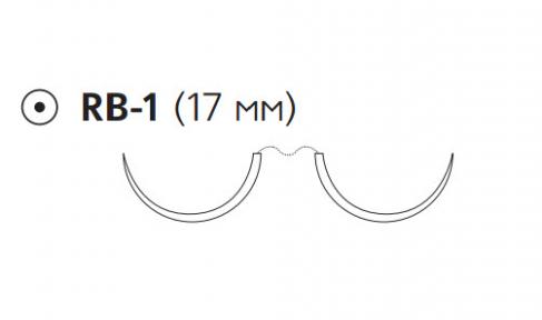 ПДС II (PDS II) 5/0, длина 90см, 2 кол. иглы 17мм, 1/2 окр., фиолетовая нить (W9108H)