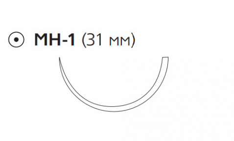 Викрил Плюс (Vicryl Plus) 3/0, длина 70см, кол. игла 31мм VCP319H