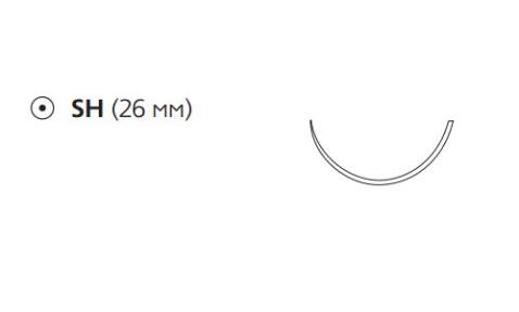 Этибонд Эксель (Ethibond Excel) 4/0, длина 75см, кол. игла 26мм W6831