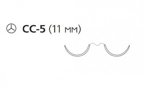 Пролен (Prolene) 5/0, длина 60см, 2 кол. иглы 11мм CC W8803
