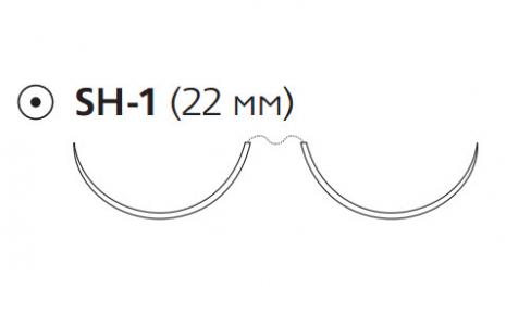 Нерассасывающийся шовный материал Пролен (Prolene) 5/0, длина 90см, 2 кол. иглы 22мм, 1/2 окр. (PEE5692H) Ethicon (Этикон)