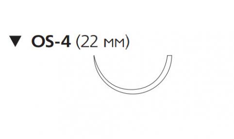 Викрил (Vicryl) 2, длина 75см, обр-реж. игла 22мм W9287