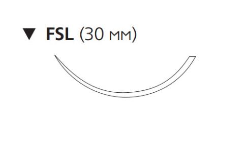 Пролен (Prolene) 3/0, длина 75см, обр-реж. игла 30мм, 3/8 окр. (8675H)