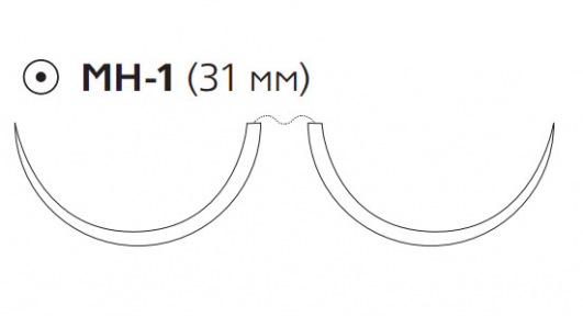 ПДС II (PDS II) 3/0, длина 90см, 2 кол. иглы 31мм W9134H